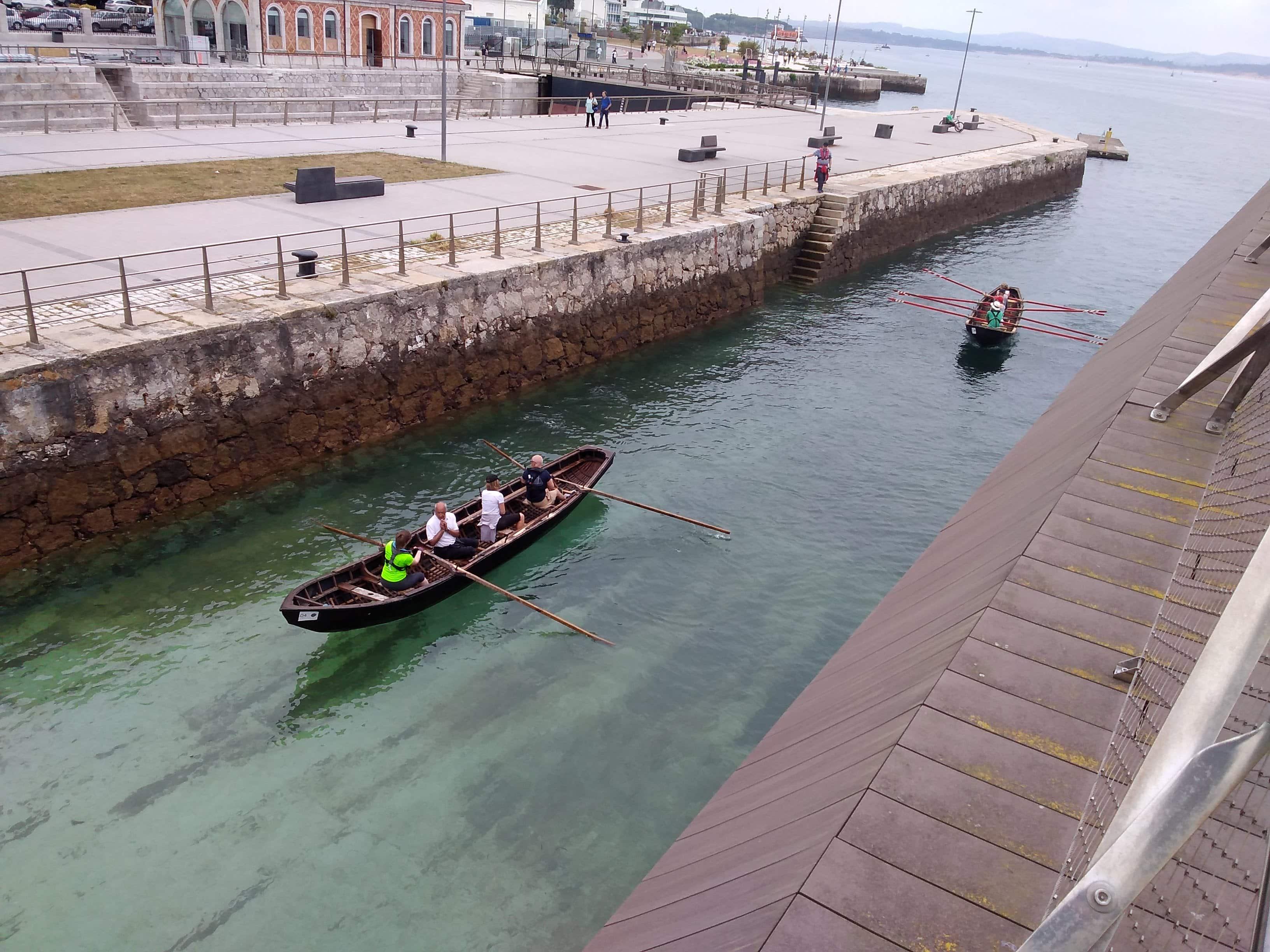 Currachs in the dock of Gamazo (Santander)